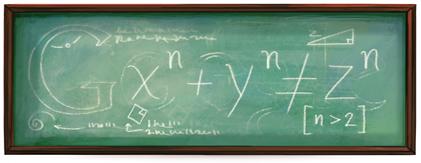 He descubierto una demostración verdaderamente maravillosa para este teorema pero este doodle es demasiado pequeño para contenerla.