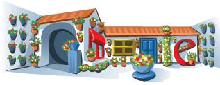 Google Logo: Córdoba May Patio Festival
