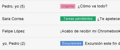 Organiza el correo electrónico con etiquetas