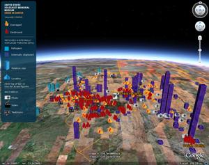 Google earth solidario como grficos de barras 3d en google earth un ejemplo es la capa de la crisis en darfur de ushmm que utiliza polgonos para representar el nmero de gumiabroncs Gallery