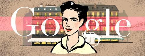 Google hoy Simone-de-beauvoirs-106th-birthday-5503387349024768-hp