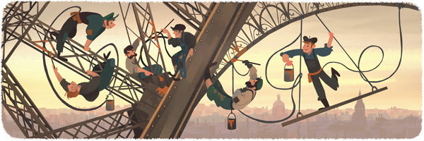 126 aniversario de la apertura al público de la Torre Eiffel