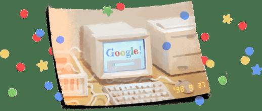 21º aniversario de Google.