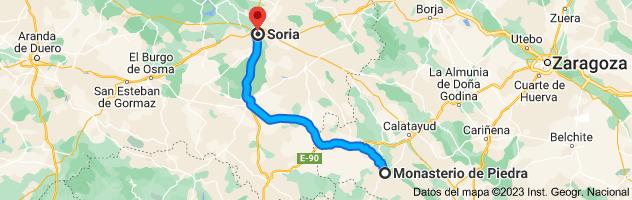 Mapa de Soria a Sigüenza, 19250, Guadalajara