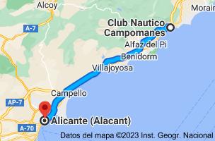 Mapa de Club Nautico Campomanes, Puerto Deportivo Campomanes, Partida Mascarat, s/n, 03590 Altea, Alicante a Alicante