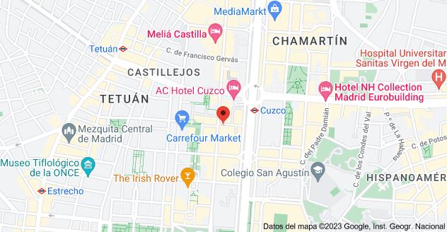 Mapa de Calle del Pintor Juan Gris, 5, 28020 Madrid