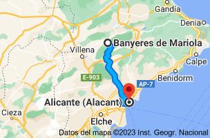 Mapa de Bañeres, 03450, Alicante a Alicante
