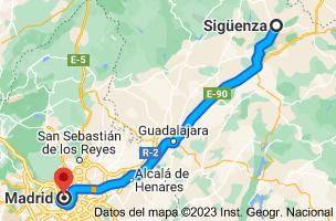 Mapa de Sigüenza, 19250, Guadalajara a Madrid