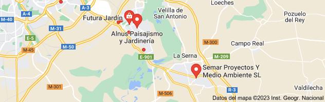 Mapa de Jardinería y jardines