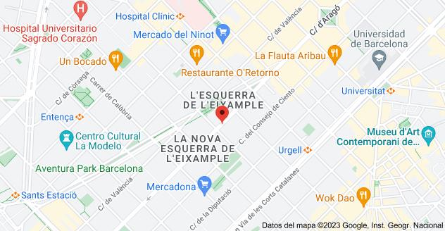 Mapa de Calle de Aragón, 108, 08015 Barcelona