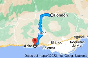 Mapa de Fondón, 04460, Almería a Adra, Almería
