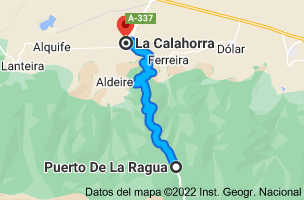Mapa de Puerto De La Ragua, Carretera A-337, km 25, 18513 Puerto De la Ragua, Granada a La Calahorra, Granada
