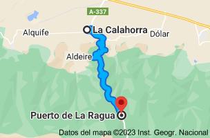 Mapa de La Calahorra, Granada a Puerto De La Ragua, Carretera A-337, km 25, 18513 Puerto De la Ragua, Granada