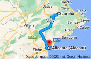 Mapa de Lorcha, 03860, Alicante a Alicante