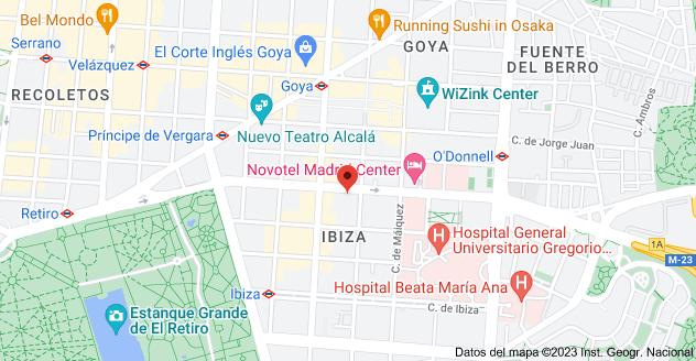 Mapa de Calle de O'Donnell, 32, 28009 Madrid
