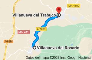 Mapa de Villanueva del Rosario, 29312, Málaga a Villanueva del Trabuco, 29313, Málaga