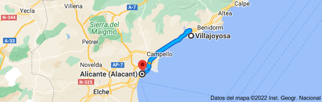 Mapa de Villajoyosa, 03570, Alicante a Alicante
