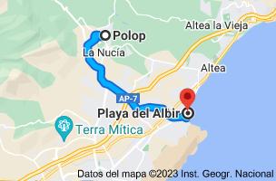 Mapa de Polop, 03520, Alicante a LP, Alicante