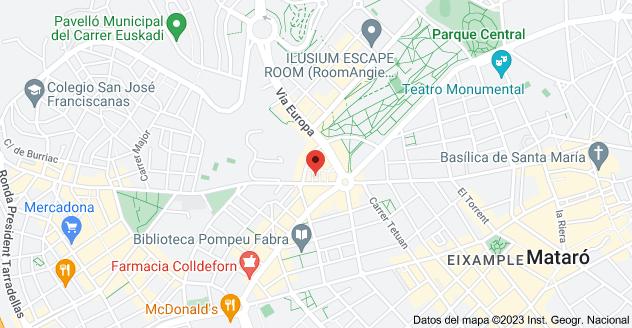 Mapa de Avinguda de Puig i Cadafalch, 18, 08303 Mataró, Barcelona