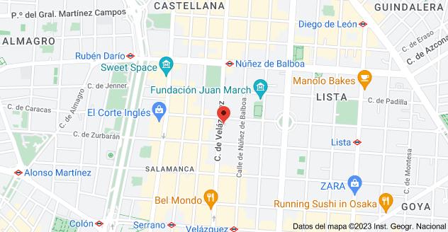 Mapa de Calle de Velázquez, 80, 28001 Madrid