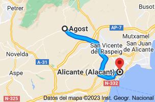 Mapa de Agost, 03698, Alicante a Alicante
