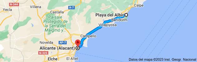 Mapa de LP, Alicante a Alicante