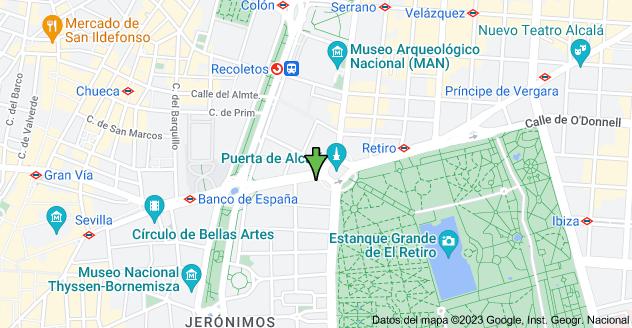 Mapa de Calle de Alcalá, 58, 28014 Madrid