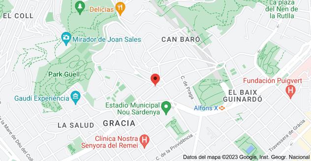Mapa de Av. de la Mare de Déu de Montserrat, 17, 08024 Barcelona