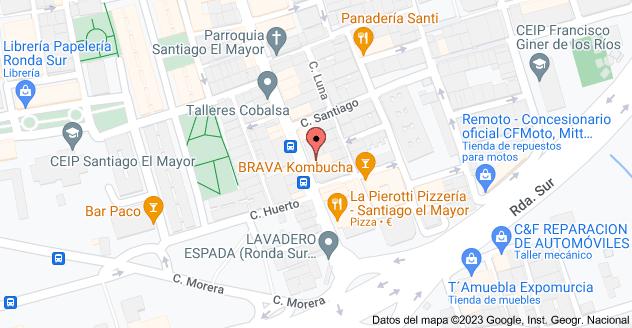 Mapa de Santiago el Mayor, Calle Pío XII, 19, 30012 Murcia