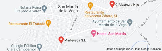 Mapa de cerrajeros san martin de la vega