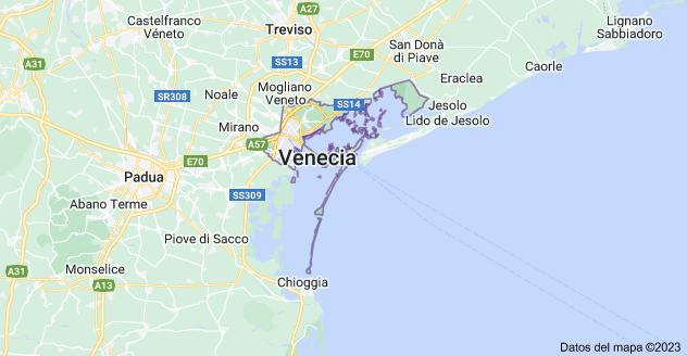 Mapa de Venecia, Italia