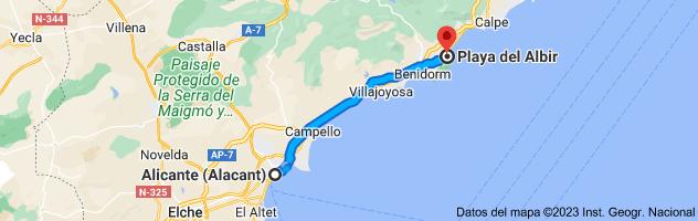 Mapa de Alicante a LP, Alicante