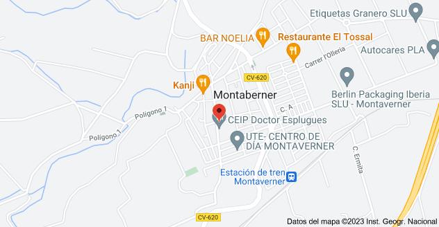 Mapa de Carrer Alacant, 53, 46892 Montaverner, Valencia