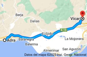 Mapa de Adra, Almería a Vícar, 04738, Almería