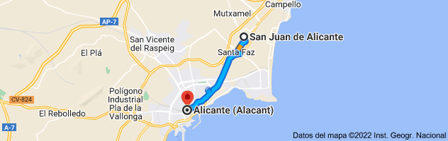 Mapa de San Juan de Alicante, 03550, Alicante a Alicante