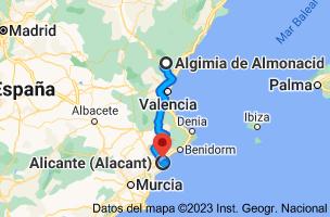 Mapa de Algimia de Almonacid, 12414, Castellón a Alicante