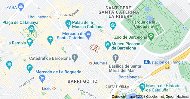 Mapa de Carrer de les Semoleres, 08003 Barcelona