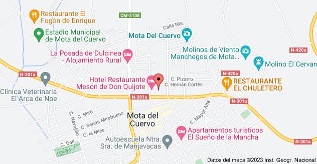 Mapa de Calle Camino Real Alto, 7, 16630 Mota del Cuervo, Cuenca