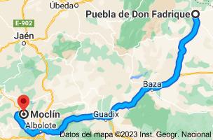 Mapa de Puebla de Don Fadrique, 18820, Granada a Moclín, 18247, Granada