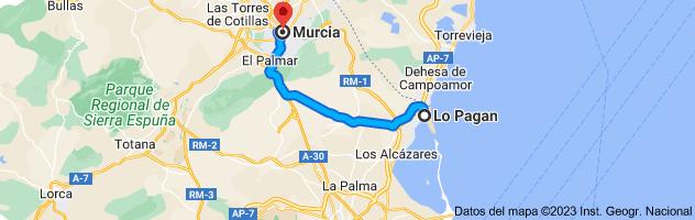 Mapa de Lo Pagan, 30740, Murcia a Murcia