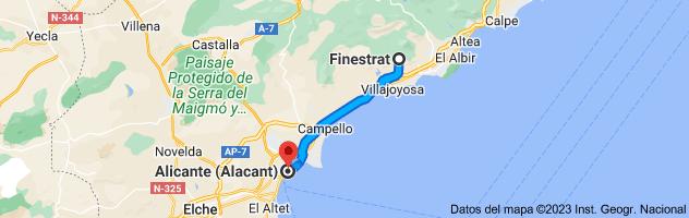 Mapa de Finestrat, 03509, Alicante a Alicante