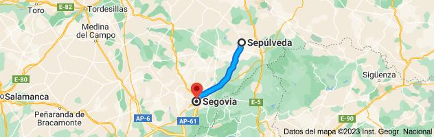 Mapa de Sepúlveda, 40300, Segovia a Segovia