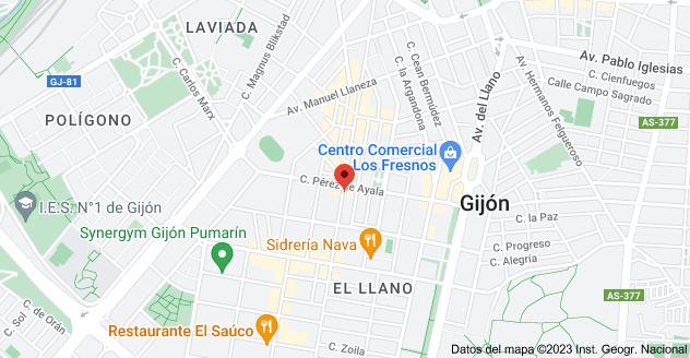 Mapa de Av. Schulz, 75, 33208 Gijón, Asturias