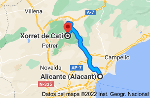 Mapa de Alicante a Xorret del Catí, CV-817, s/n, 03420 Castalla, Alicante