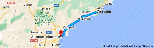 Mapa de El Albir, 03581, Alicante a Alicante