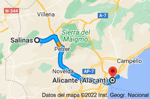 Mapa de Salinas, 03638, Alicante a Alicante