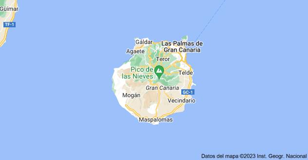 Mapa de Gran Canaria, Las Palmas
